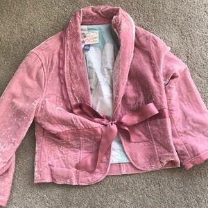 Hollister velvet jacket